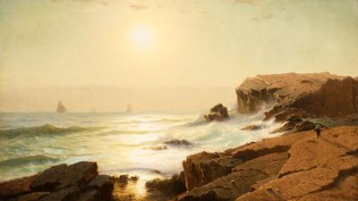 William Stanley Haseltine Sunrise at Narragansett Rhode Island