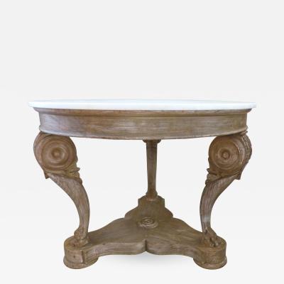 William Switzer Hand Crafted Marble Top Center Table by William Switzer Vancouver B C