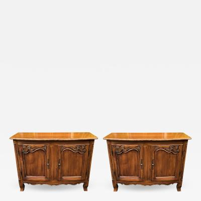 William Switzer Pair of Louis XV Style French Provincial Buffets by William Switzer