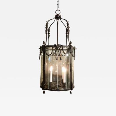 William Switzer Spanish Colonial Bronze Designer Lantern Chandelier