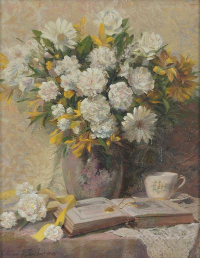 William T Chambers A Touch of Gold and White