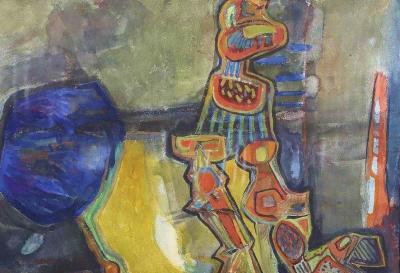 William Thomas Lumpkins Untitled Transcendental Indian Motif