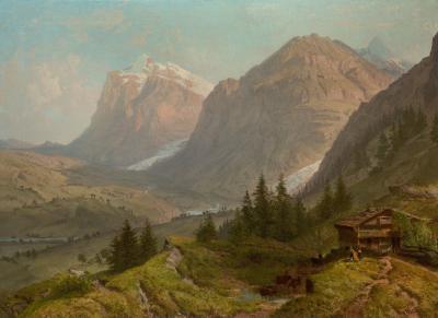 William Trost Richards Alpine Landscape