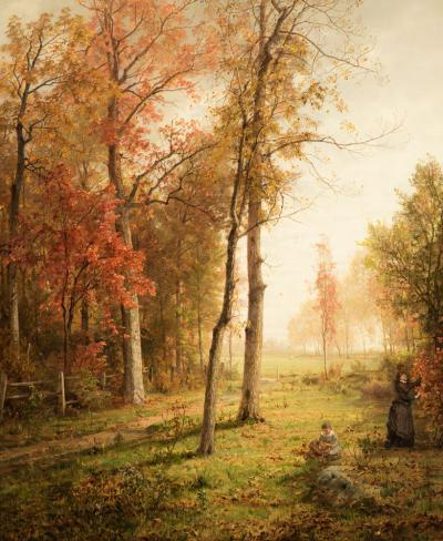 William Trost Richards Gathering Leaves
