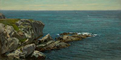 William Trost Richards Rocky Coast Springtime