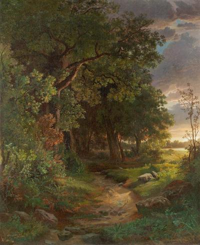 William Trost Richards Woodland Interior