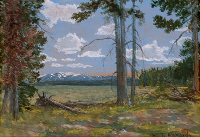 William Trost Richards Yellowstone Lake Mt Sheridan in the Distance