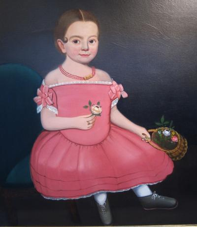 William W Kennedy Portrait of a Girl in a Pink Dress William Kennedy