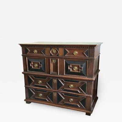William and Mary Four Drawer Oak Chest