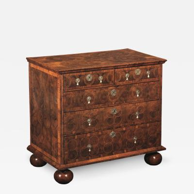 William and Mary Olivewood Oyster Veneered Chest