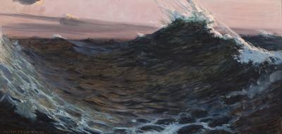 William de Leftwich Dodge Surf under Red Skies