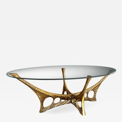 Willy Ceysens Abstract Bronze Coffee Table by Willy Ceysens 1929 2007