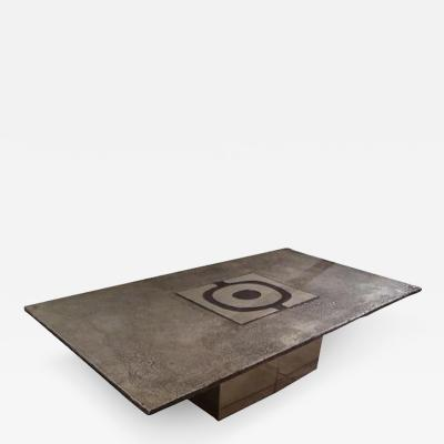 Willy Ceysens Willy Ceysens Modernist Cocktail Table in Cast Steel Belgium Circa 1970