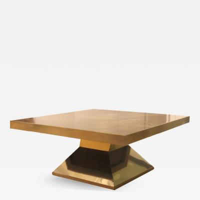 Willy Daro Brass Low Table by Willy Daro