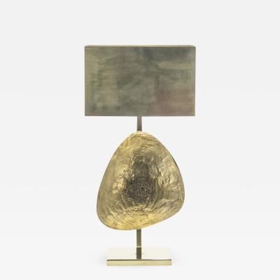 Willy Daro Large Belgian Willy Daro table lamp in brass and bronze 1970s