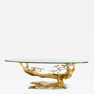 Willy Daro Massive Brass Coffee Table in the Style of Willy Daro Belgium 1970s