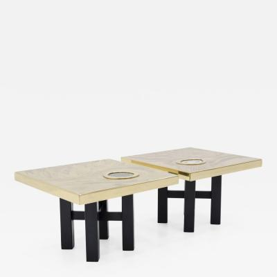 Willy Daro Pair of side tables by Willy Daro