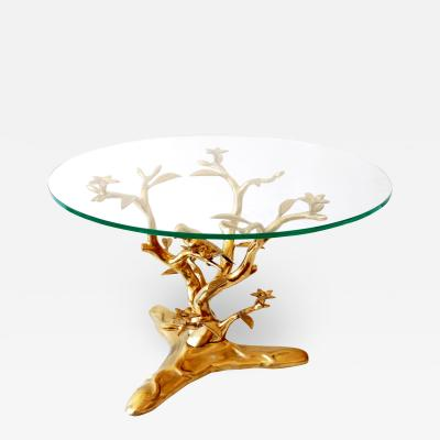 Willy Daro Sculptural Mid Century Modern Brass Coffee Table by Willy Daro Belgium 1970s