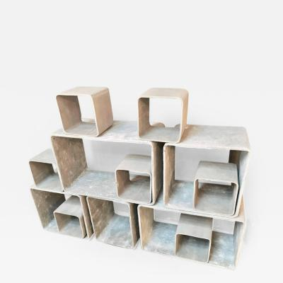 Willy Guhl 12 Piece Willy Guhl Modular Cement Bookcase