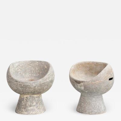 Willy Guhl CEMENT POD CHAIRS BY WILLY GUHL