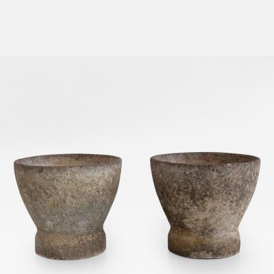 Willy Guhl Pair of Willy Guhl Stone Planters