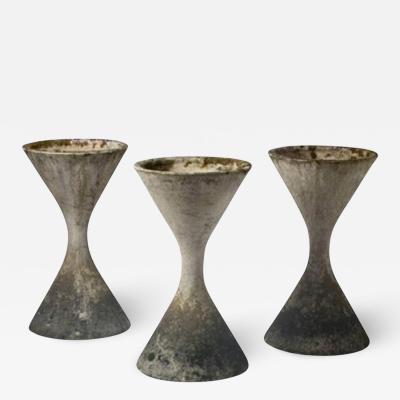 Willy Guhl Three planters by Willy Guhl with original patina