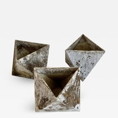 Willy Guhl WILLY GUHL HEXAGON CUBE PLANTERS