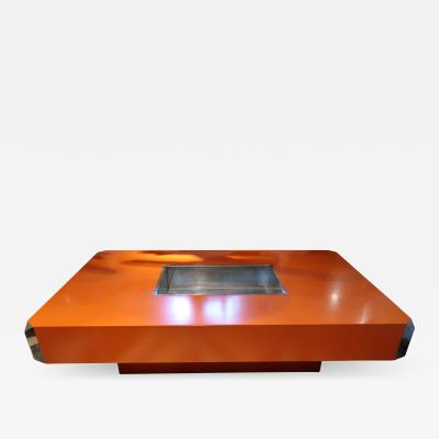 Willy Rizzo Alveo Coffee Table by Willy Rizzo Italy 1970