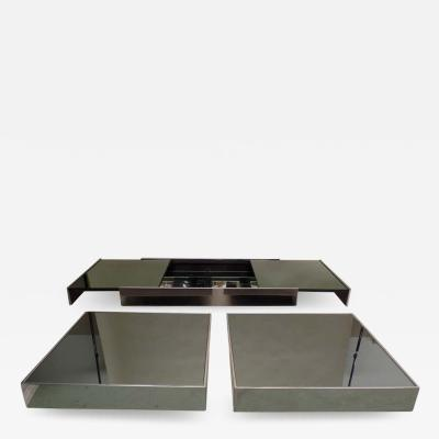 Willy Rizzo Italian Mid Century Expandable Coffee Table Pair of End Tables by Willy Rizzo