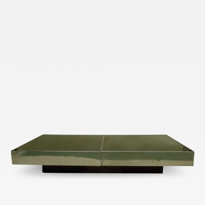 Willy Rizzo Large Two Part Italian Mid Century Modern Coffee Table by Willy Rizzo for Cidue