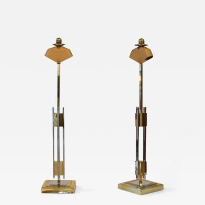 Willy Rizzo PAIR OF TABLE LAMPS
