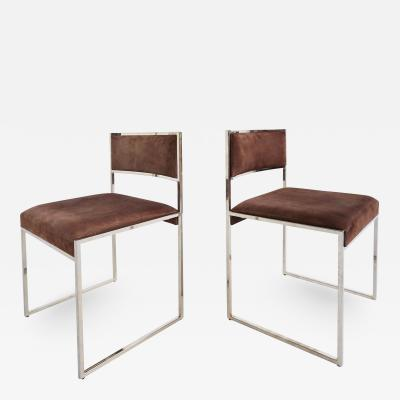 Willy Rizzo Set of 6 Willy Rizzo Dining Chairs