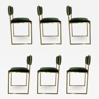 Willy Rizzo Set of Six Willy Rizzo Dining Chairs