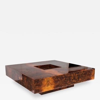 Willy Rizzo Square Coffee Table by Willy Rizzo