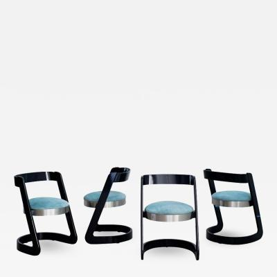 Willy Rizzo WILLY RIZZO CHAIRS SET OF 4