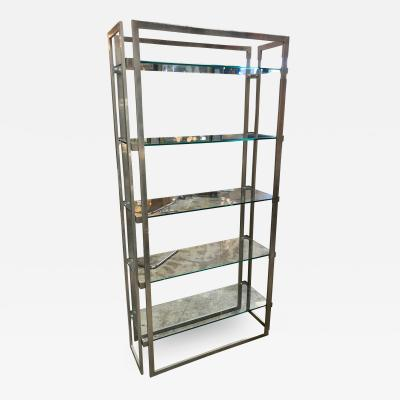 Willy Rizzo Willy Rizzo Vintage Chrome Bookcase Italy 1970s