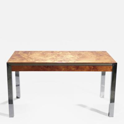 Willy Rizzo Willy rizzo burl chrome brass dining table 1970 s