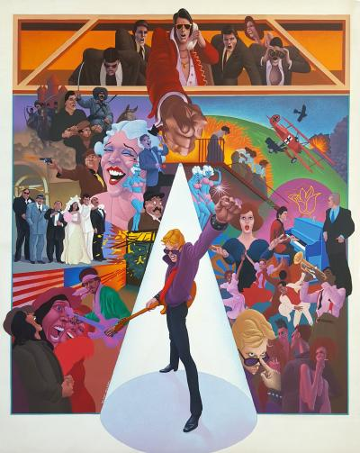 Wilson McLean Movie Poster Illustration for American Pop
