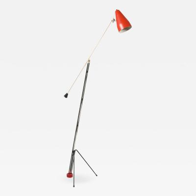 Wim Rietveld Grashopper floor lamp 6320 by Wim Rietveld for Gispen 1950s