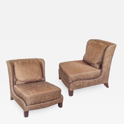 Winged Baker Slipper Chairs