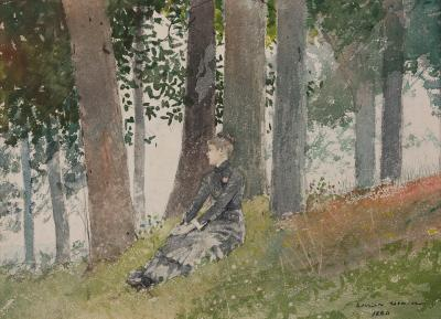 Winslow Homer Girl Seated in a Grove 1880