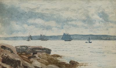 Winslow Homer Sailboats at Gloucester