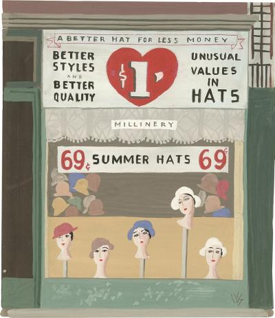Witold Gordon Witold Gordon Gouache Summer Hats Vanity Fair
