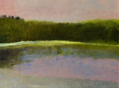 Wolf Kahn Dawn at South Pond