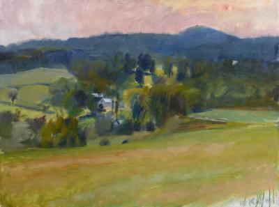 Wolf Kahn Overview on Ames Hill Midsummer