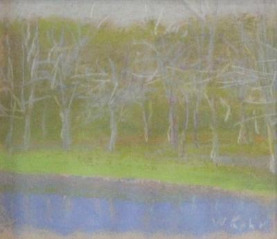 Wolf Kahn Trees by the Shore