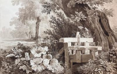 Wolfgang Adam Topffer Figures amongst the Flora