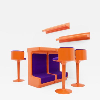 Wolfgang Feierbach Fiberglass Bar Set by Wolfgang Feierbach Germany 1974