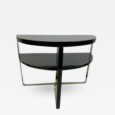 Wolfgang Hoffmann ART DECO MODERNIST DEMILUNE TABLE BY WOLFGANG HOFFMAN