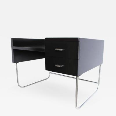 Wolfgang Hoffmann Art Deco Black Lacquered Desk by Wolfgang Hoffmann